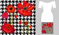 Red poppies. Party dress design. Royalty Free Stock Photo