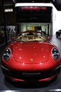 Red Porsche 911 Carrera Cabriolet front Royalty Free Stock Photos