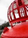 Red, Port Navigation marker buoy Royalty Free Stock Photo
