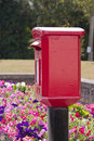 Red post box Stock Image