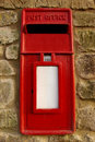 Red Post Box Royalty Free Stock Photos
