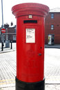 Red Post Box on a London St Royalty Free Stock Image