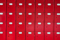 Red post office boxes Stock Photography