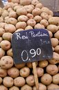 Red Potatoes at the Market Barcelona Stock Photography
