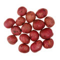 Red potatoes on white Royalty Free Stock Image