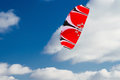 Red power kite in the sky Royalty Free Stock Photo