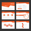 Red presentation templates Infographic elements flat design set for brochure flyer leaflet marketing