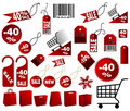 Red price tags Royalty Free Stock Image