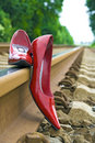 Red pumps Royalty Free Stock Photos