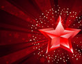 Red pure star Royalty Free Stock Image