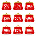Red purse discount illustration white background design Stock Photography