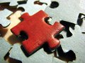 Red puzzle 2 Royalty Free Stock Photo