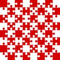 Red Puzzle Pieces - JigSaw Vector - Field Chess Royalty Free Stock Photo