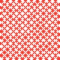Red Puzzle Pieces JigSaw - Vector - Field Chess Royalty Free Stock Photo