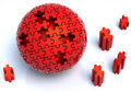 Red Puzzle Sphere Royalty Free Stock Photo