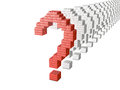 Red question mark and several white marks Royalty Free Stock Photos