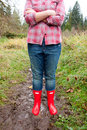 Red Rain Boots Royalty Free Stock Photo