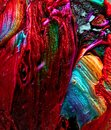 red and rainbow Abstract colorful Long Exposure Sparkly Lights Background and beautiful Royalty Free Stock Photo