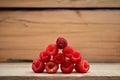 Red raspberries piramid Royalty Free Stock Photo