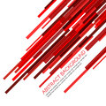Red rectangle bars obliquely vector abstract background Royalty Free Stock Photo