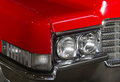 Red retro car headlights old Stock Image