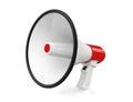 Red Retro megaphone Stock Image