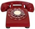 Red Retro Phone, Hotline, Isolated Royalty Free Stock Photo