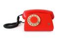 Red retro rotary phone Royalty Free Stock Photo
