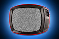 Red retro tv in spotlight Royalty Free Stock Photo