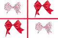 Red ribbon bow isolated on white background Stock Photography