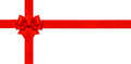 Red ribbon bow isolated on white. Gift card concept Royalty Free Stock Photo