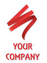 Red ribbon company logo Royalty Free Stock Photography