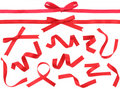Red Ribbon design element Stock Photos