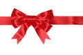 Red ribbon gift with bow for gifts on Christmas or Valentines da Royalty Free Stock Photo