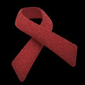 Red ribbon hiv symbol of a commitment to the fight against aids Stock Photography