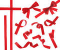 Red Ribbon (isolated) Royalty Free Stock Image