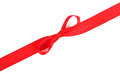 Red ribbon isolated on white Royalty Free Stock Images