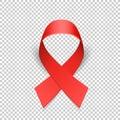 Red ribbon solidarity awareness symbol