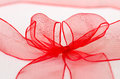 Red ribbon on white background Royalty Free Stock Photography
