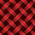 Red ribbon woven Stock Photos