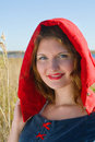 Red Riding  hood standing Stock Photography