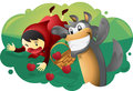 Red Riding Hood And Wolf Royalty Free Stock Images