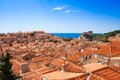 Red rile roofs of Dubrovnik Royalty Free Stock Photo