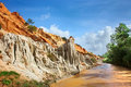 Red river canyon, Vietnam, Mui Ne Royalty Free Stock Photos