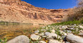 Red river the cliff walls of the colorado arizona usa Royalty Free Stock Photo