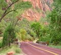 Red road in Zion Royalty Free Stock Photo