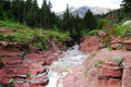 Red rock creek and canyon Royalty Free Stock Photography