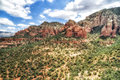 Red rock formations at vultee arch in sedona usa is an arizona desert town near flagstaff that's surrounded by Royalty Free Stock Image