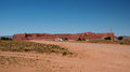 Red Rock Mesa along U.S. Highway 191 Royalty Free Stock Photo
