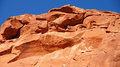 Red rock mountain up close arizona usa vivid blue sky Stock Photo